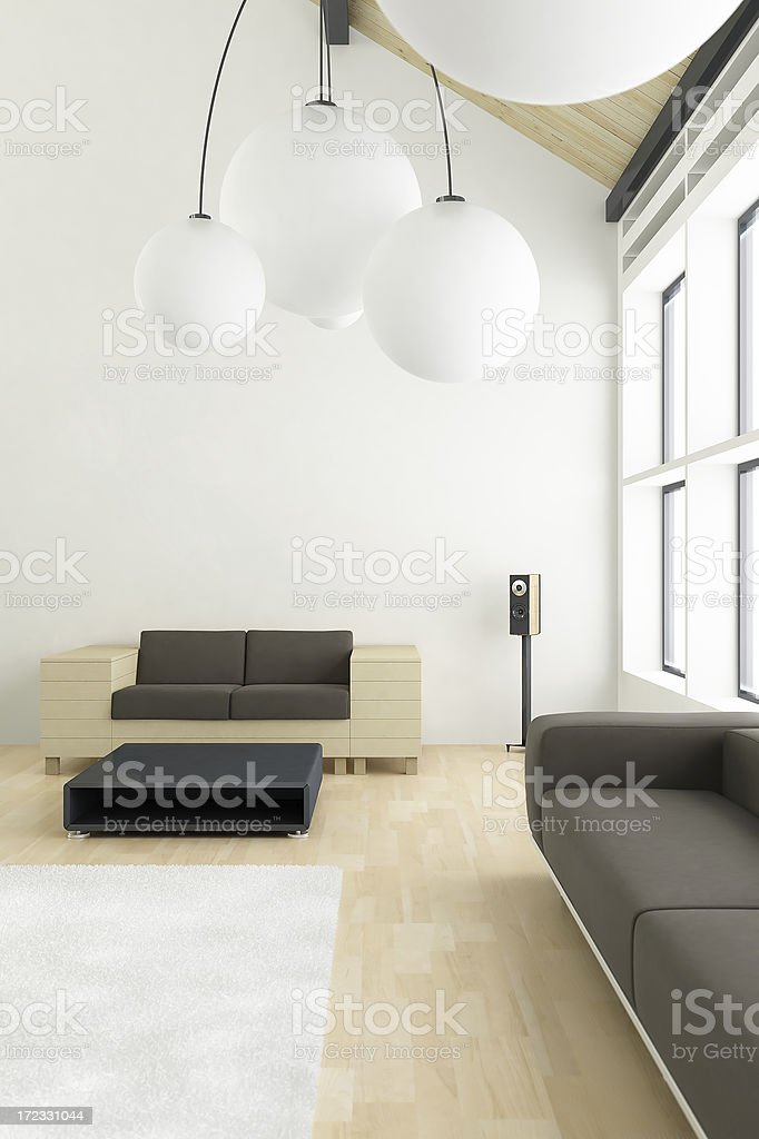 Modern Bright Interior Render Stock Photo & More Pictures of Animal Body  Part