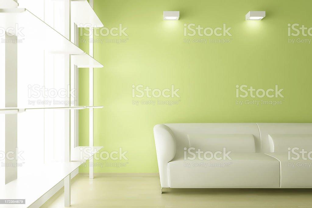Moderna habitación interior render (CGI foto de stock libre de derechos