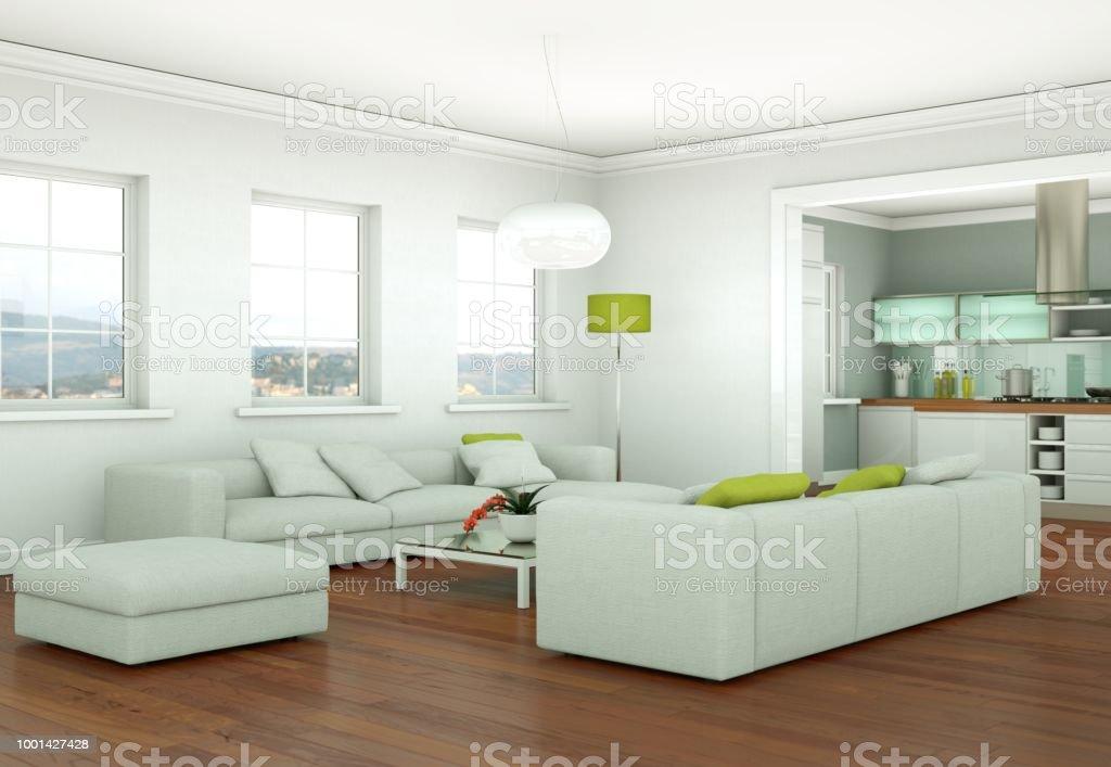Diseño De Interiores Moderno Luminoso Livingcomedor Con ...