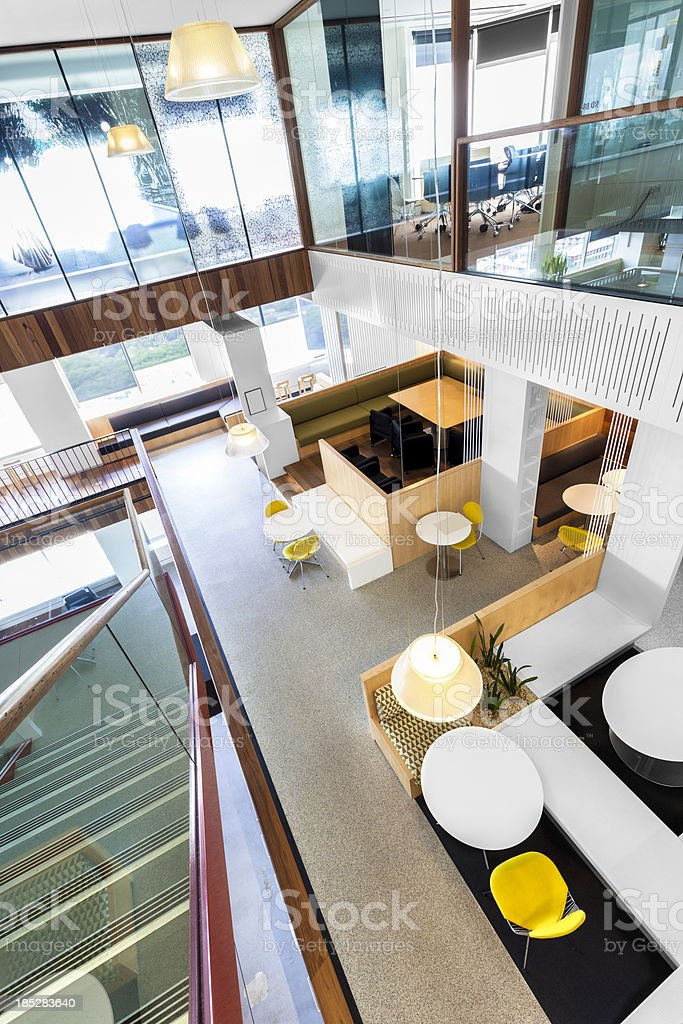 Modern, brightly lit office space royalty-free stock photo