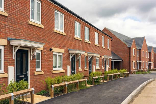 Modern British housing stock photo