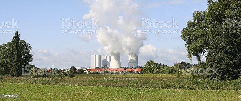 Modern brown coal power plant stock photo