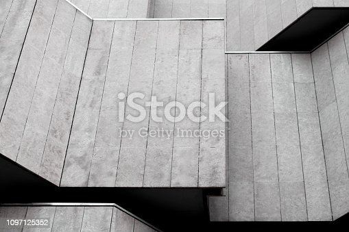 Modern building abstract background pattern, concrete wall