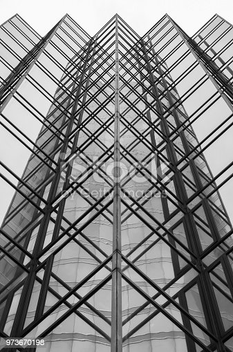 High rise office building in Hong Kong city