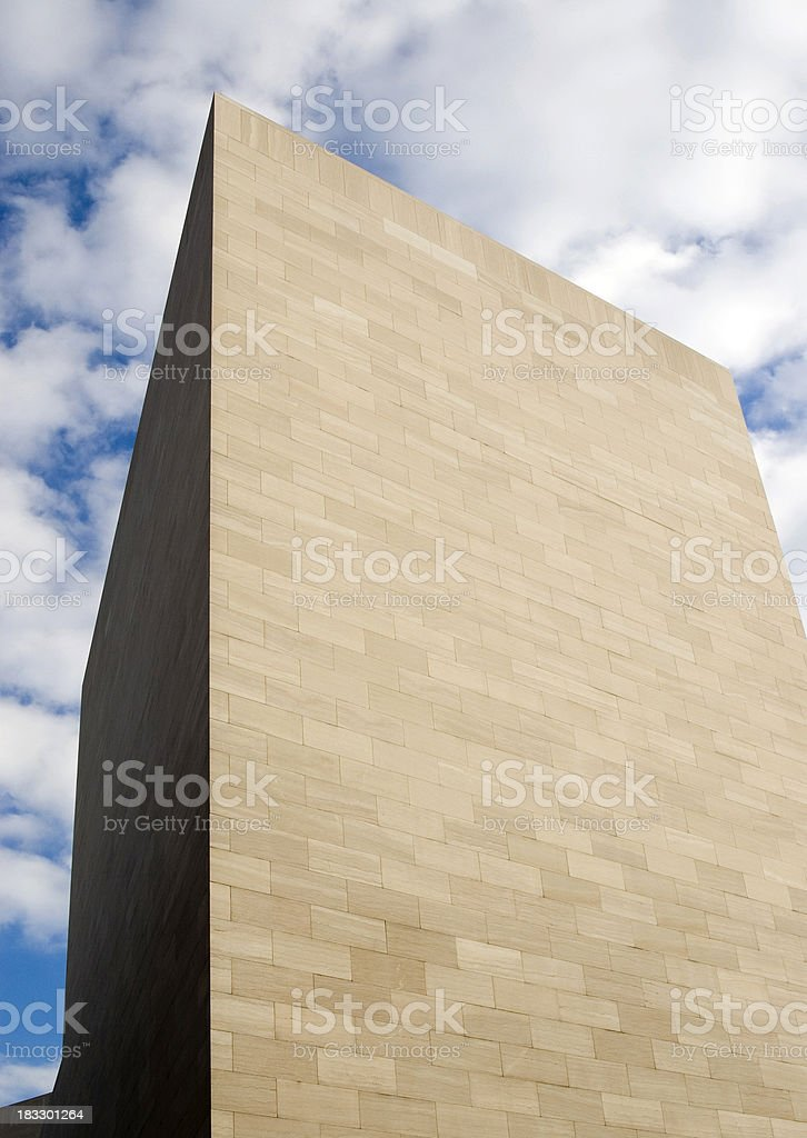 Modern building against sky stock photo