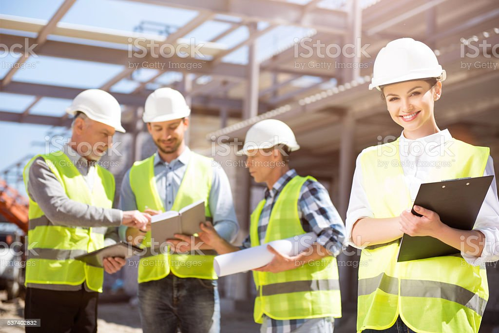 Modern building and business stock photo