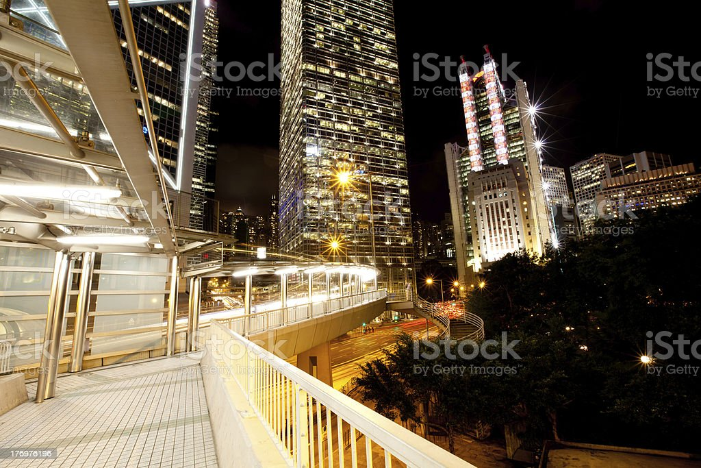 modern building at night royalty-free stock photo