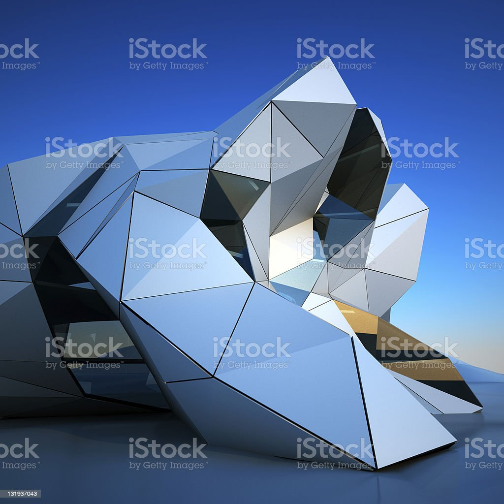 Modern building downtown royalty-free stock photo