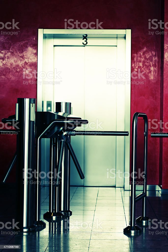 Modern building elevator royalty-free stock photo