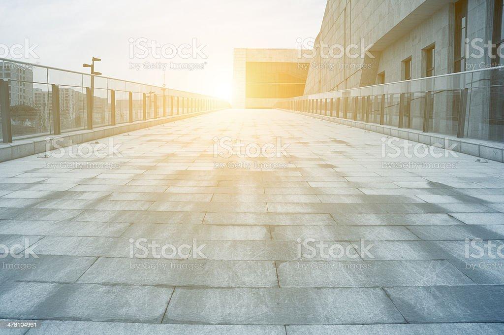 Moderno edificio entrada - foto de stock