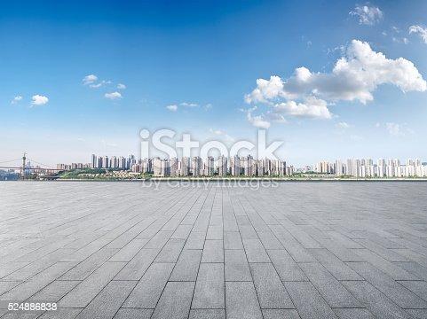 istock Modern building exterior with Modern architecture platform 524886838