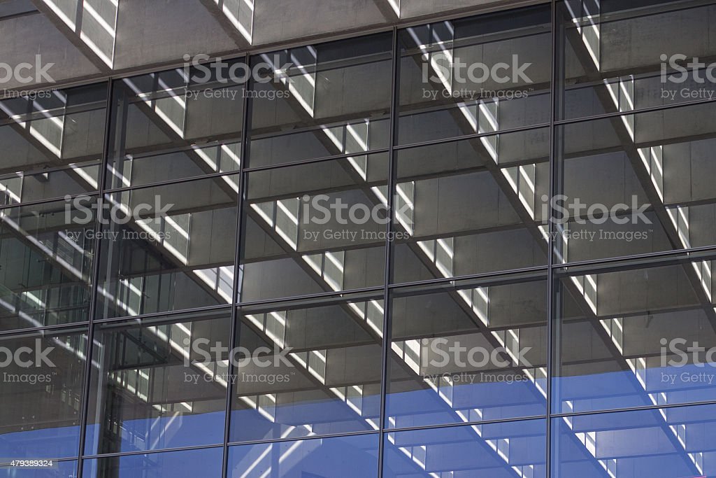 modern building facade detail - office background stock photo