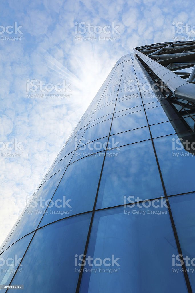 modern building glass curtain wall stock photo