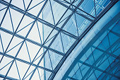 modern building glass roof metal frame construction