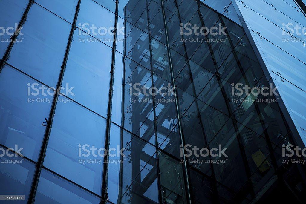 Modern building, glass wall stock photo
