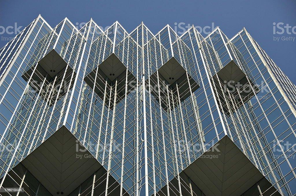modern building in Atlanta Buckhead stock photo