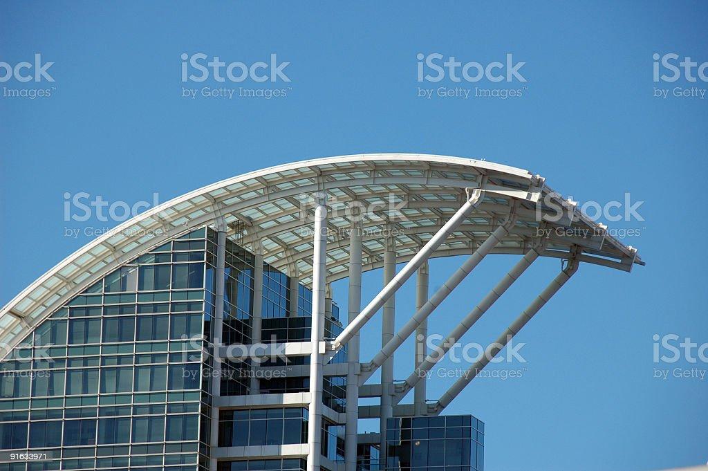 Modern building in Buckhead Atlanta stock photo