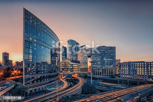 istock Modern building in Paris 1048358188