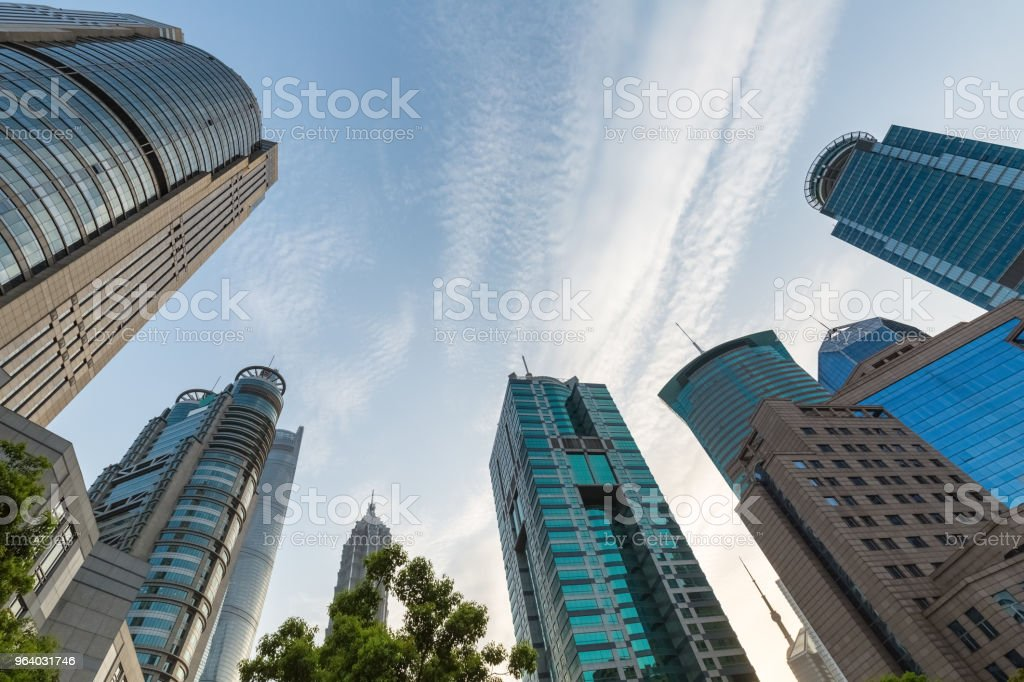 modern building in shanghai financial center - Royalty-free Architecture Stock Photo