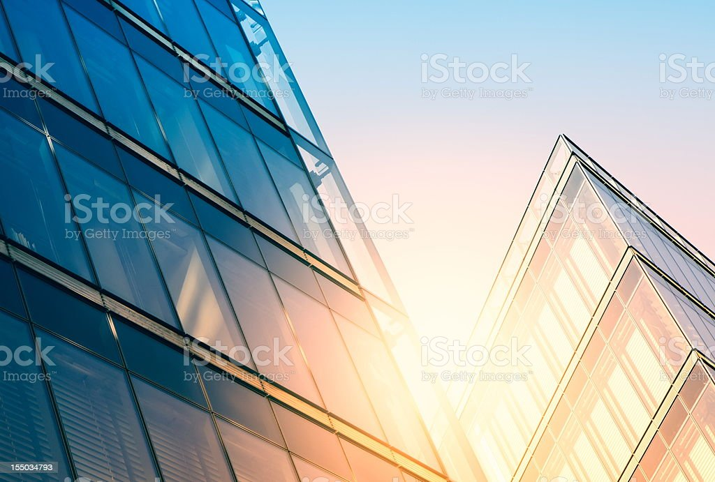 Modern building in sunlight stock photo