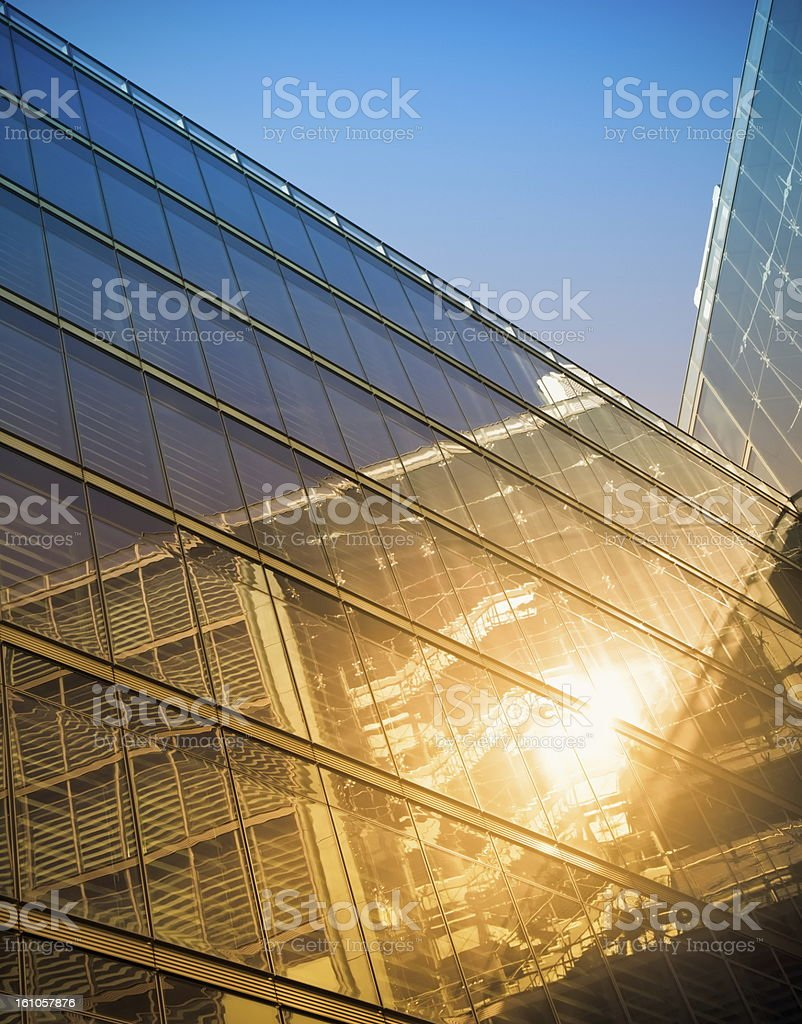 Modern building in sunlight royalty-free stock photo