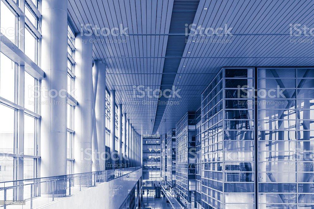 Modern building indoors stock photo