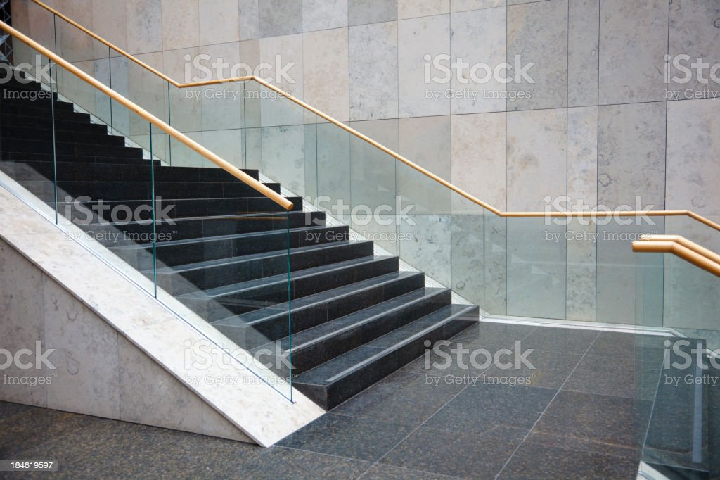 Modern building interior stock photo