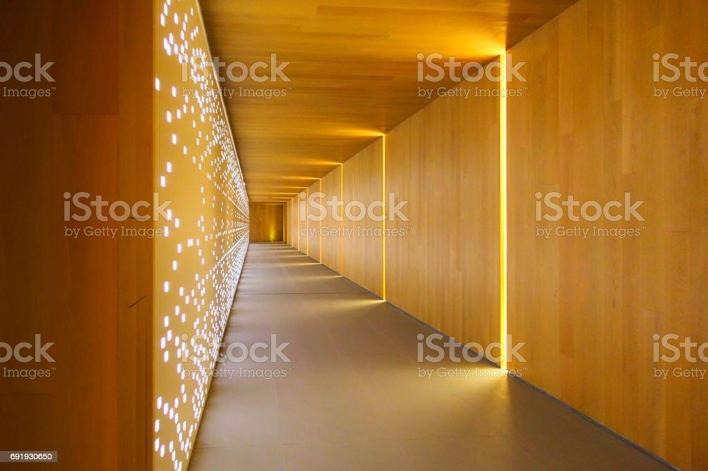 Modern building interiors stock photo