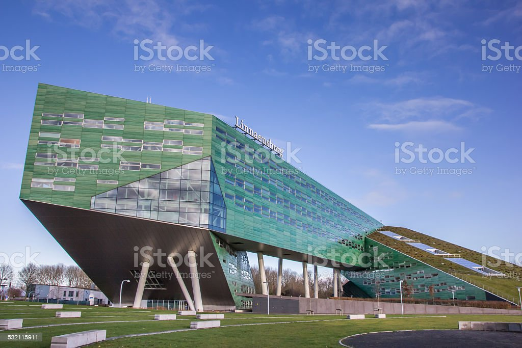 Modern building of the Groningen university stock photo