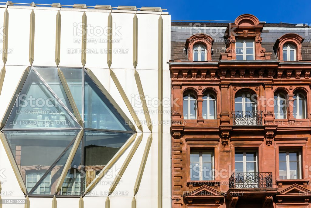 modern building of the Printemps store in Strasbourg. It is a branch...