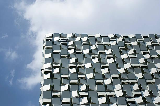moderne gebäude in der skyline von sheffield, großbritannien - sheffield stock-fotos und bilder