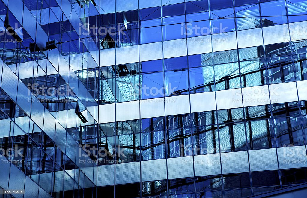 modern building reflection royalty-free stock photo