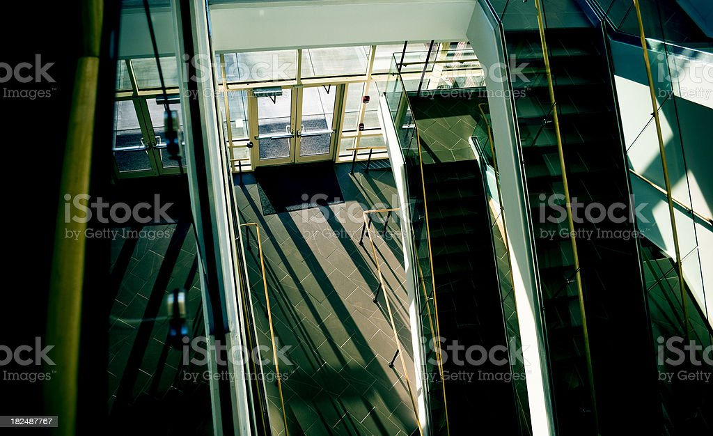 Modern Building Stairs and Entry stock photo
