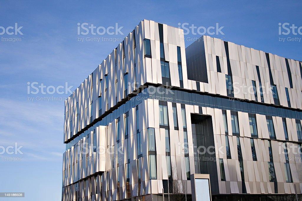 Modern building, The consert hall in Uppsala, sweden stock photo