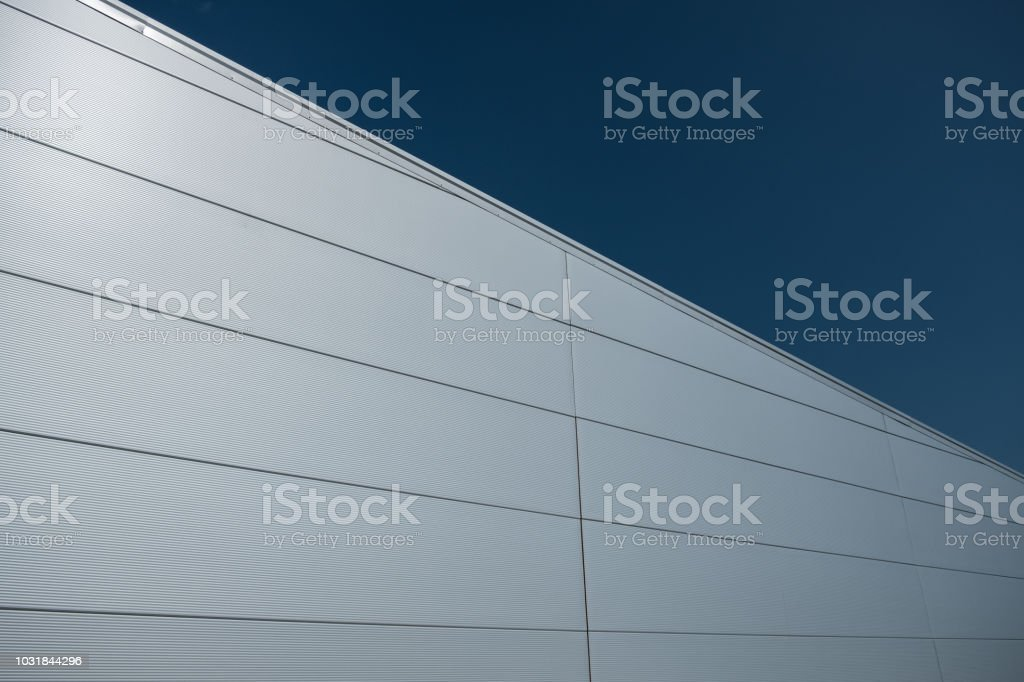 Modern building with sandwich panels stock photo