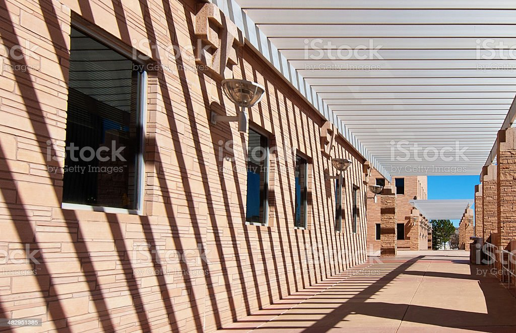 Modern Building withTrellis stock photo
