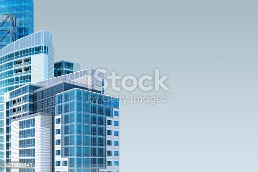 istock Modern buildings abstract background with copy space 521888841