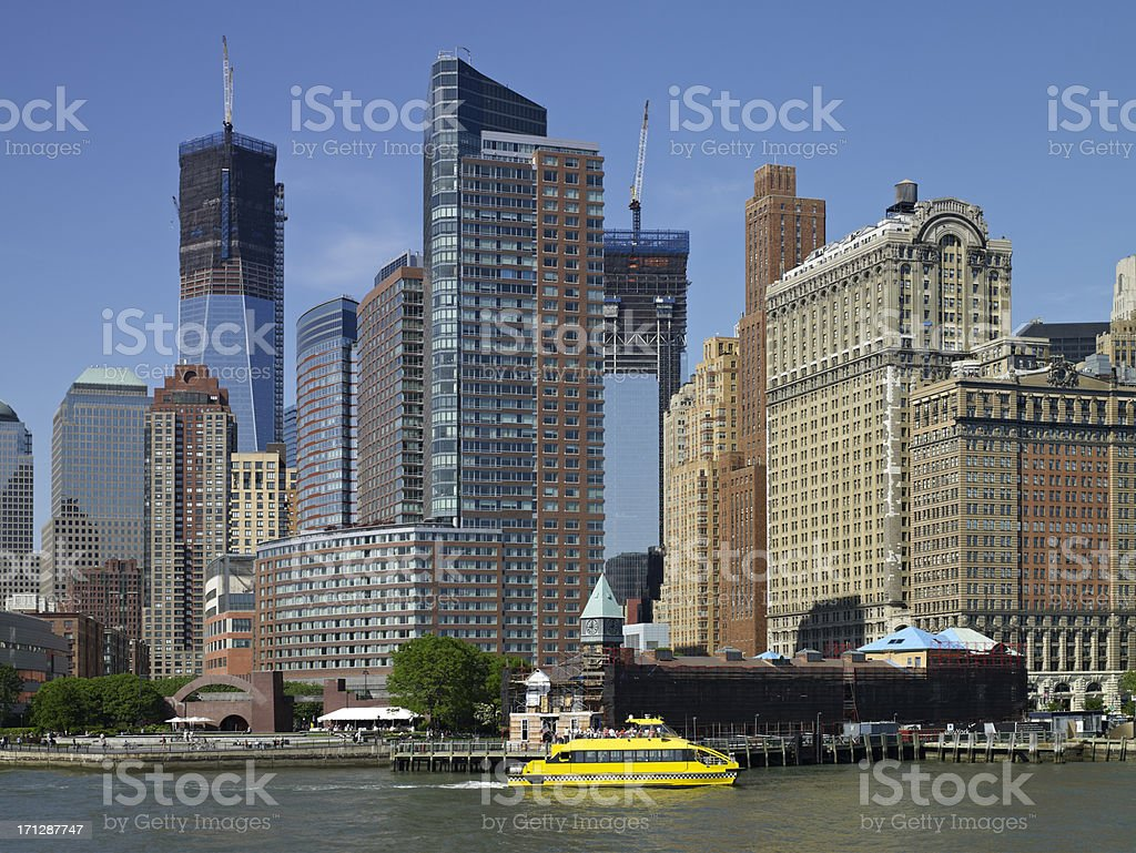 Modern buildings and skyscrapers royalty-free stock photo