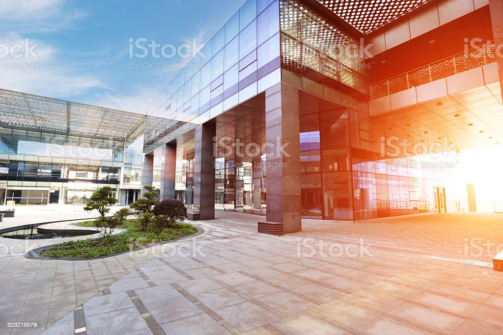 Modern buildings and square stock photo
