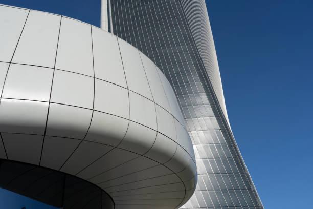 Edifícios modernos em CityLife, Milan - foto de acervo