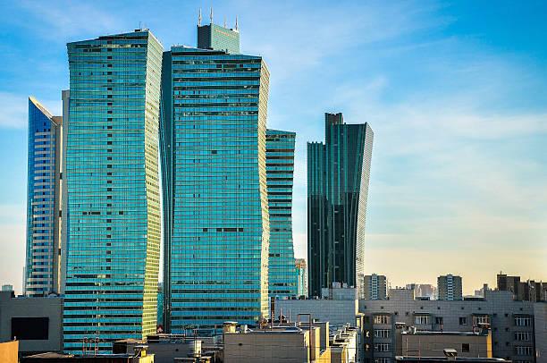 Modern buildings in Astana stock photo