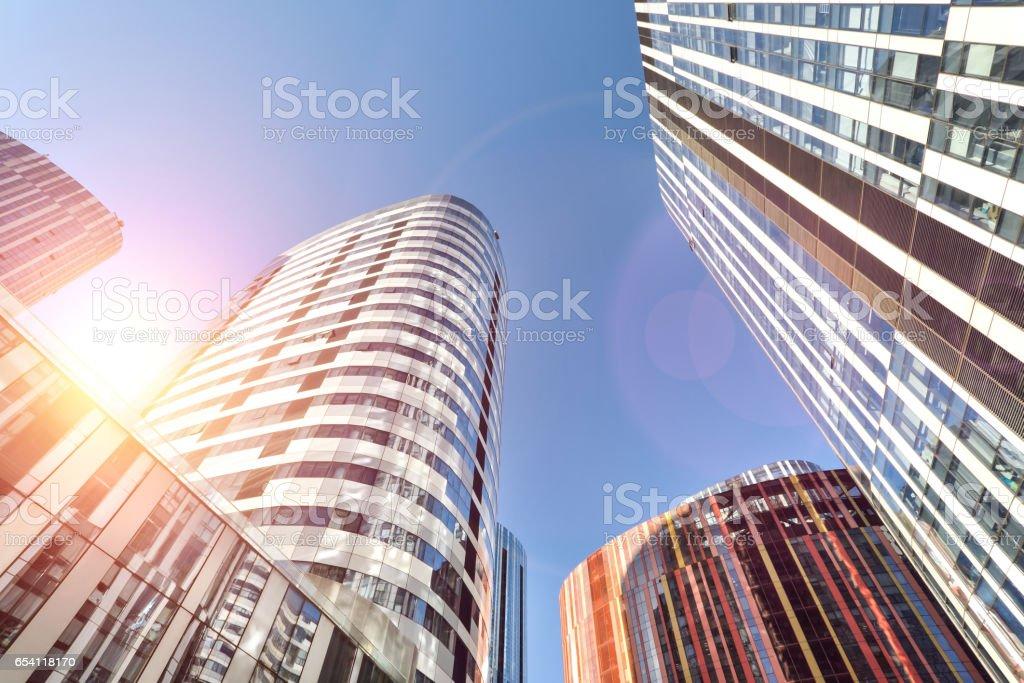 Modern buildings in Beijing stock photo