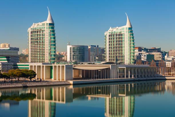 Modern buildings in Lisbon. stock photo