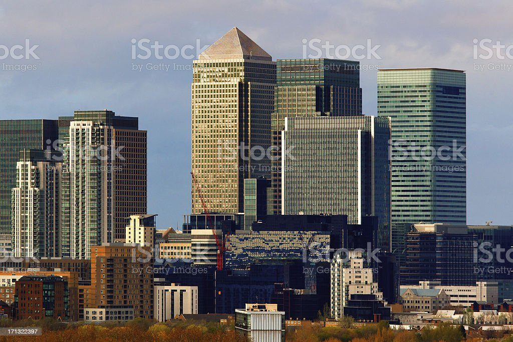 modern buildings in London royalty-free stock photo