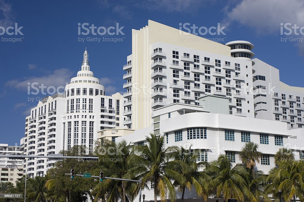 Modern buildings in Miami Beach royalty-free stock photo