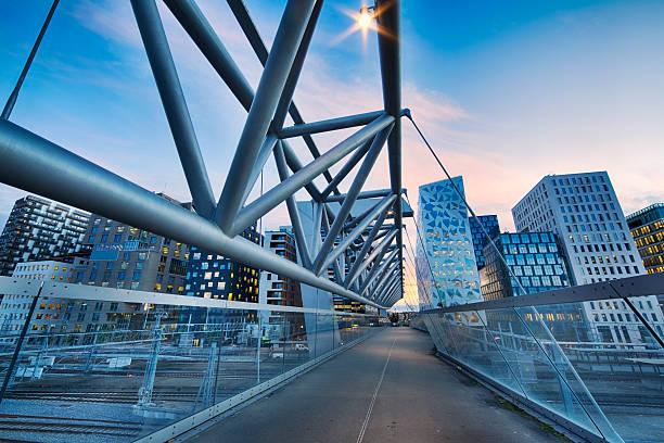 Modern Buildings in Oslo, Norway stock photo