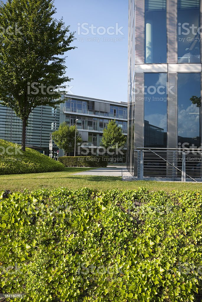 Modern Buildings in Park royalty-free stock photo