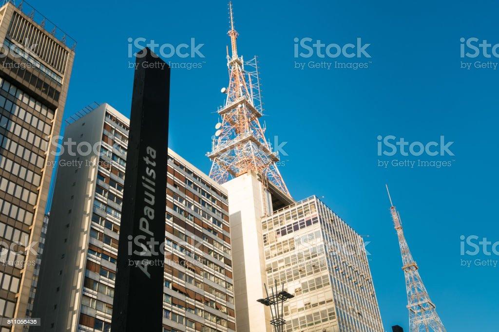 Modern Buildings in Paulista Avenue, Sao Paulo, Brazil stock photo