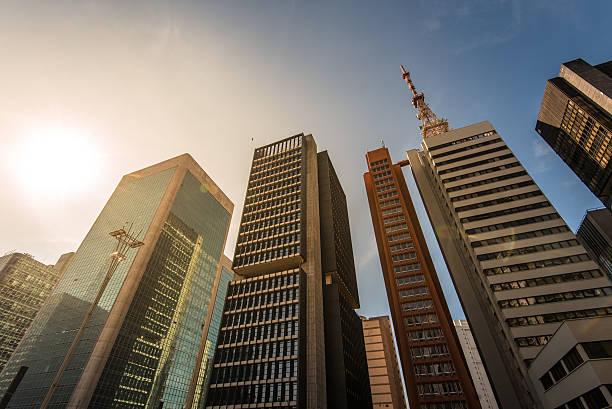 Modern Buildings in Sao Paulo City stock photo