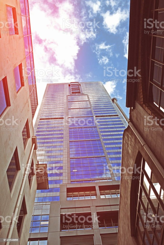 Modern buildings in the city stock photo